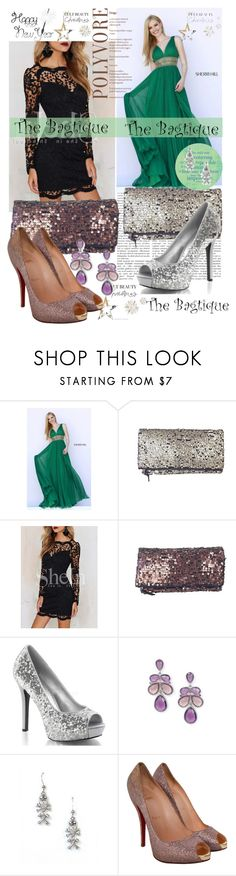 """""""The Bagtigue 7"""" by elmaman ❤ liked on Polyvore featuring Sherri Hill, 1928, Bagtique and Christian Louboutin"""