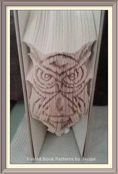Tribal Owl 1. Book Folding Patterns by JHBookFoldPatterns on Etsy