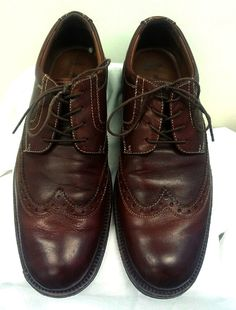 Johnston & Murphy Passport- Brown Casual Wing-Tip Oxford Shoes- size 8M
