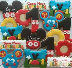 #sugarcookies #decoratedcookies #mickeymouseclubhousecookies #customcookies #cookieoccasions #firstbirthdaycookies