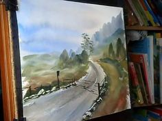 Watercolour Landscape Painting Demonstration featuring Tay Forest Park in Scotland
