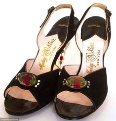 Pair Lucite & Suede Shoes, 1950s, Augusta Auctions, April 9, 2014 - NYC, Lot 125