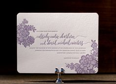 Ever since Bridal Market's fall shows last month, I've been even more mad for lace than usual! This gorgeous combination of hand lettering, a traditional serif font and lacey flowers from Bella Figura makes for an invitation I simply couldn't turn down.