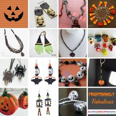80 Frighteningly Fabulous Halloween Jewelry Projects