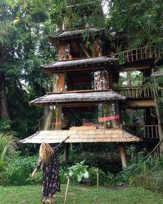 Tree House Designs, Treehouses, Corsica, Cottages, Rio, Engineering, House Ideas, Construction, House Styles