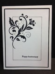 Flowering Flourishes Anniversary Card by sn0wflakes - Cards and Paper Crafts at Splitcoaststampers