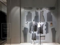 """BREUNINGER, Stuttgart, Germany, """"Made to Measure Fall/Winter Menswear Collection"""",creative by DFROST, pinned by Ton van der Veer"""