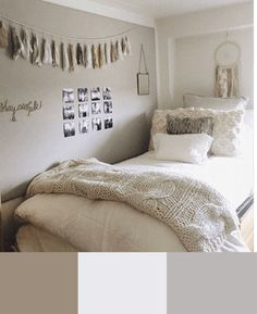 Are you stuck on what colors you want to decorate your college dorm room with? These 6 dorm room color schemes show you the trendiest colors of the year. Dorm Room Colors, Cool Dorm Rooms, Bedroom Colors, Bedroom Decor, Bedroom Ideas, Bedroom Apartment, Small Room Bedroom, Master Bedroom Design, Small Rooms