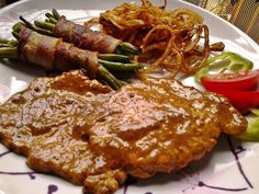 Meat Recipes, Chicken Recipes, Cooking Recipes, Food 52, Diy Food, Tasty, Yummy Food, Hungarian Recipes, Pork Dishes