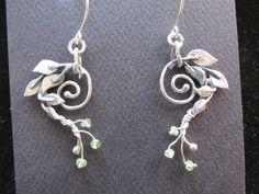 Sterling Silver Brutalist 5 Leaf Spiral with by CreativeEddy