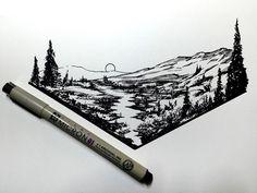 I feel like I should caption these to be more engaging... So how is everyone?  .  .  .  #drawing #dailydrawings #illustration #ink #inkdrawing #landscape #geometry #artofdrawingg #iblackwork #art_spotlight #artshelp #art #artoftheday #artistic #artgallery #sketch #sketchbook #sketch_daily #draw #pen #dailyart #dailysketch #blackwork #art_perspective #artistshouts #artmg03 #worldofpencils #supportartists