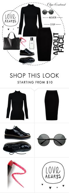 """""""15.08.2017"""" by olgacontrast on Polyvore featuring мода, Alaïa, River Island и Lapcos"""