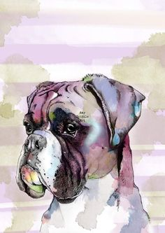 A personal favourite from my Etsy shop https://www.etsy.com/uk/listing/503338407/boxer-dog-boxer-dog-art-boxer-dog-print