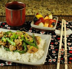 Spicy Szechuan Green Beans and Ground Turkey or Pork (your family will LOVE it!)