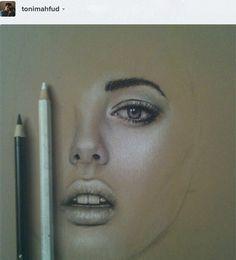 Colored pencil process