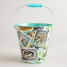 One of my favorite discoveries at WorldMarket.com: Vintage-Inspired Easter Art Tin Pail