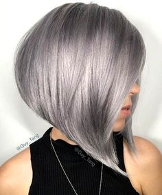 Warning: These grey and silver strands are going to give you major hair envy. #hairdare #steephighshort