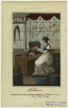 Milliner, July 7, 1804,  New York Public Library