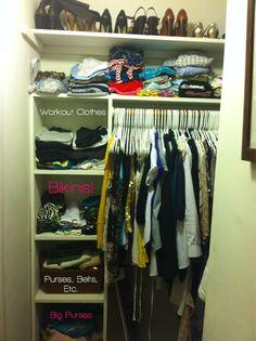 second shelve for closet