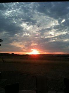 Sunrise in Montana....