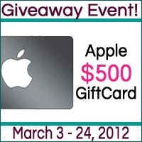 1 lucky winner will get a $500 Apple Gift Card. The gift card is redeemable at any Apple Store in the United States – online or via phone. http://www.shopaholicmommy.com/category/sweepstakes/