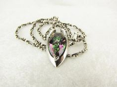 Mystic Topaz & Sterling Silver Necklace With Very Unique