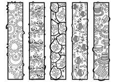 Printable: Zendoodle bookmarks DIY print & color by ColorYourMood Colouring Pics, Cool Coloring Pages, Printable Coloring Pages, Adult Coloring Pages, Coloring Sheets, Printable Art, Coloring Books, Free Printable Bookmarks, Bookmark Template