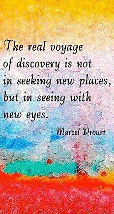 See with new eyes quote via Carol's Country Sunshine on Facebook