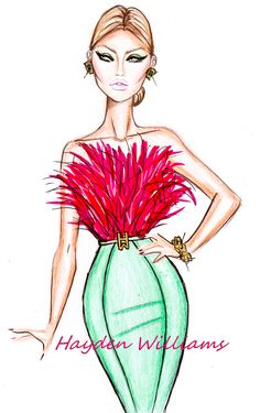 Hayden Williams Fashion Illustrations: Cocktail Couture pt3 by Hayden Williams