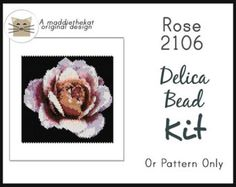 For the moderate to experienced beader.  Available choices: - (Pattern only) PDF pattern will be e-mailed to you. ~Please allow me a little time to e-mail the pattern to you. Thanks. ~ - (Kit - Beads only) Comes with delica beads and PDF pattern. - (Kit + Needles & Thread) Comes with delica beads, needles, thread and PDF pattern.  Pattern Details: Even count peyote 9 pages, 2 without wordchart 21 colors 2.80 x 4.20 inches Clear color graph Wordchart pattern Beadscape realistic preview ima...