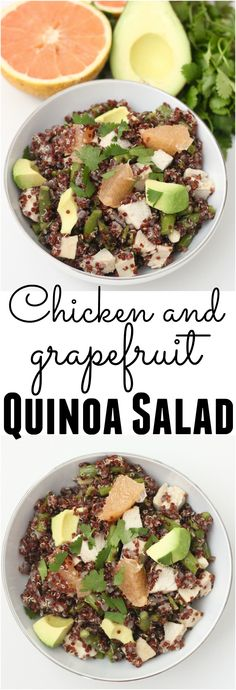 Use one saucepan to make this filling, refreshing Chicken and Grapefruit Quinoa Salad packed with nourishing goodness. Great for making ahead & keeping in the fridge