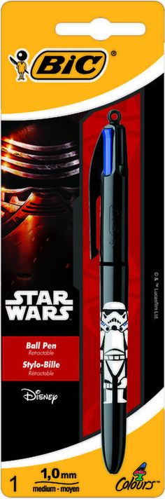 from $7.95 - #StarWars 4 Colors Bic Pen : Stormtrooper / Black Color / Collector - New