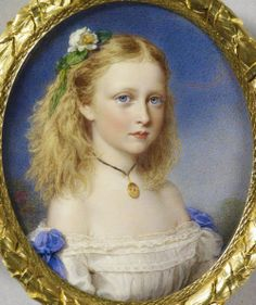 """Princess Victoria Of Hesse, later Marchioness Of Milford Haven"" by Reginald Easton (1807-1893)"
