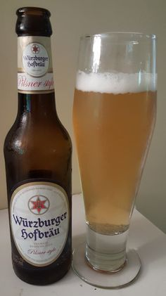Würzburger Hofbräu Premium (German) Pilsner is 4.9 ABV and pours light orange.  The nose and taste are bready malt and grass typical to the style, finishing with a quick bitter bite.  Carbonation mouthfeel and texture are all moderate and appropriate for the style as well.  Perhaps a by the numbers German Pils but one executed nigh on perfectly.  Nothing to take you to great beer drinking heights but great for what it is. Malted Barley, Beers Of The World, Natural Preservatives, German Beer, Light Orange, Craft Beer, Whisky, Beer Bottle, Alcoholic Drinks