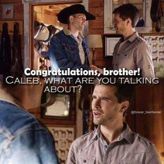 When Caleb tells Ty that Amy is pregnant which Amy tells them that it is not true Heartland Season 9, Heartland Quotes, Heartland Ranch, Heartland Tv Show, Heartland Caleb, Ty E Amy, Ty Borden, Country Girls, Country Life
