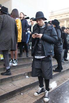 rapper dandy postprotest geek - Paris Men's Fashion Week [Photo by Kuba Dabrowski]