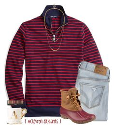 """""""It's not too late to forgive, it's not too late to ask for forgiveness, and it's never to late for both."""" by chevron-elephants ❤ liked on Polyvore featuring Brooks Brothers, Hollister Co., Sperry Top-Sider and Sole Society"""