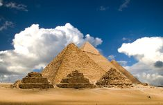 """The Great Pyramid of Giza. Great pyramid of Giza is the main part of a complex or set of buildings that include 2 mortuary temples in honor of Khufu. There are also 3 smaller pyramids for Khufu's wives, smaller """"satellite"""" pyramid for nobles. Khufu's vizier, Hemon, or Hemiunu, is believed by some to be the architect."""