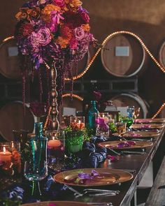 Purple Wedding Flowers Temecula Based Floral and Event Designer Arabian Nights Wedding, Wedding Night, Wedding Table, Fall Wedding, Our Wedding, Dream Wedding, Autumn Weddings, Wedding Veils, Wedding Cakes
