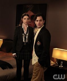"""""""Crazy Cupid Love"""" GOSSIP GIRL Pictured (L-R) Michelle Trachtenberg as Georgina Sparks and Penn Badgley as Dan Humphrey  PHOTO CREDIT:  GIOVANNI RUFINO/©2012 The CW Network, LLC. All Rights Reserved"""