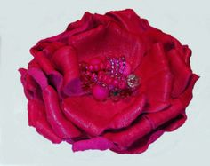 Leather corsage leather flower pin leather jewelry brooch
