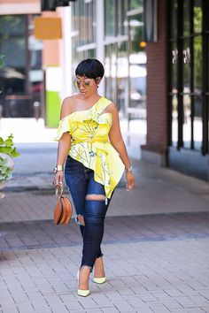 ankara tops with jeans Best Ankara Top Styles To Slay With Your Jeans In 2020 African Fashion Ankara, African Fashion Designers, Latest African Fashion Dresses, African Print Fashion, African Attire, African Wear, African Dress, African Style, African Beauty