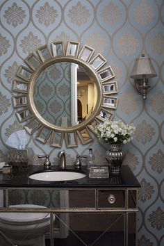 Luxurious Modern Bathrooms Elegant Hollywood Regency Home Decorating Ideas Home Decor Interior Design 1920 1920s 1930 1930s Small Bathroom Bath Room Chic