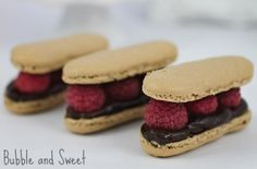 Bubble and Sweet: Chocolate Raspberry Macaron 'eclairs'