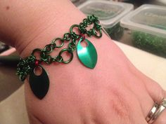 Poison Ivy Chainmaille Bracelet- Batman comic book inspired