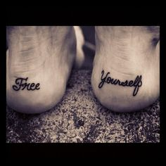 feet tattoo This would be really cool to have someday...love the placement