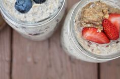It's summer & time for overnight oats again! Yum!