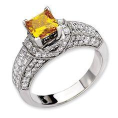 14kw Emma Grace Princess Cultured Diamond Ring - SalmaJewelry.com  $11,304.86