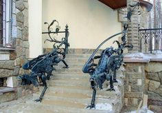 Steampunk Tendencies | Iron railings in the form of griffins ~ Green Deco  http://www.pinterest.com/pin/148900331404345466/ New Group : Come to share, promote your art, your event, meet new people, crafters, artists, performers... https://www.facebook.com/groups/steampunktendencies