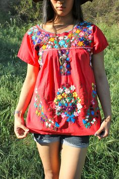 Mexican embroidery in summer!